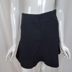 Ann Taylor Loft Petites Flippy Black Mini Skirt